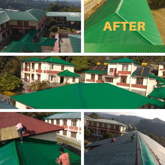 Shugsep Nunnery and Institute, roof painting project