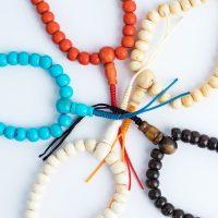 Assorted Tibetan Bone Wrist Malas for prayer and meditation