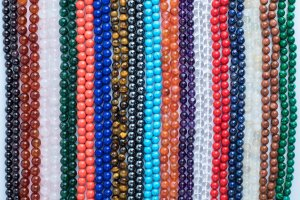Assorted Stone Malas, mala, malas, Tibetan malas, Tibetan prayer beads,