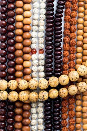 Assorted Wood & Seed Malas, mala, malas, Tibetan malas, Tibetan prayer beads,