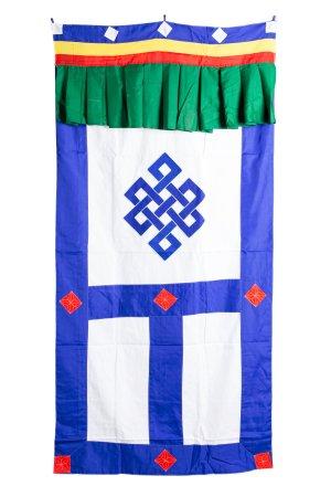 Tibetan Door Hanging White Cotton