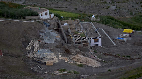 Construction site for expansion at Dorjee Zong Nunnery 2019