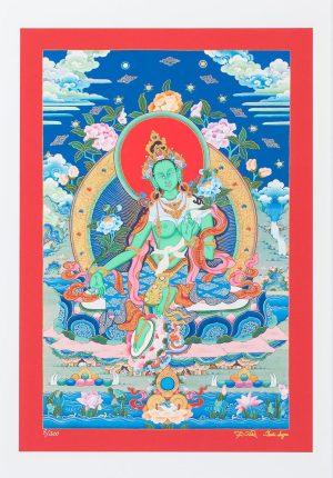 Green Tara-unframed