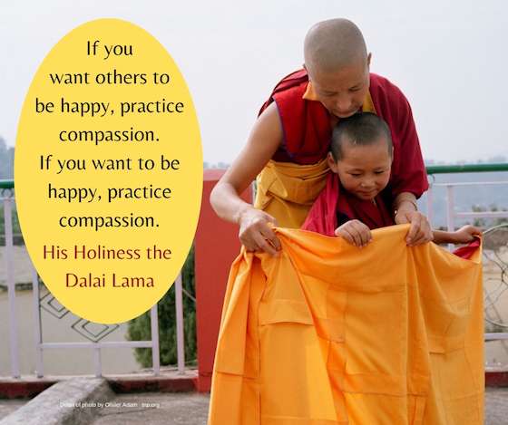 His Holiness the Dalai Lama compassion inspirational quote blog