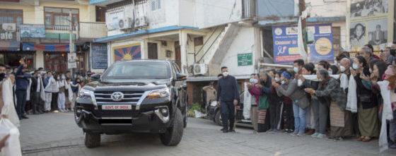 His Holiness the Dalai Lama gets vaccinated