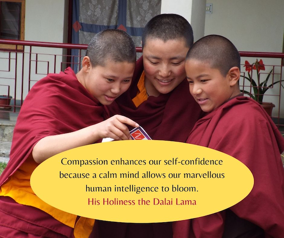 His Holiness the Dalai Lama on compassion inspirational quote