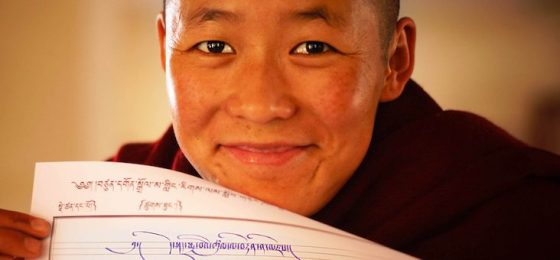 Tibetan Buddhist Nun calligraphy