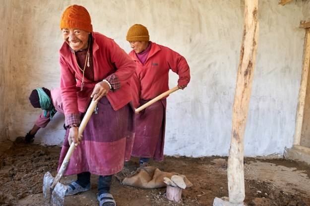 Nuns at Dorjee Zong Nunnery photo by Olivier Adam
