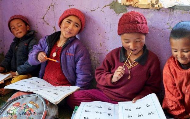 Young Tibetan Buddhist Nuns at Dorjee Zong Nunnery in Zanskar Photo by Olivier Adam