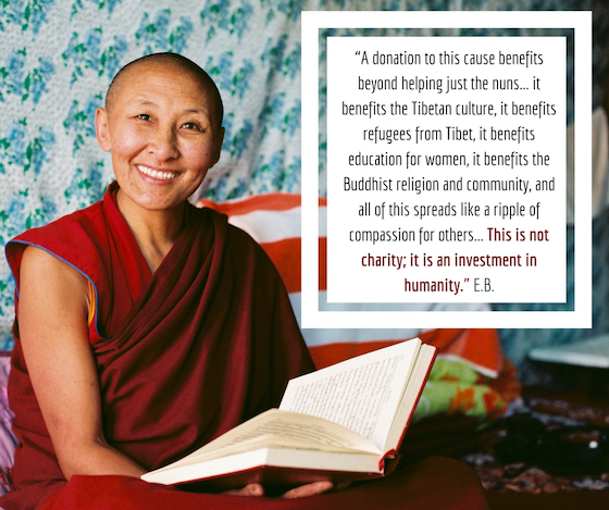 Sponsor a Tibetan Buddhist nun in Inda