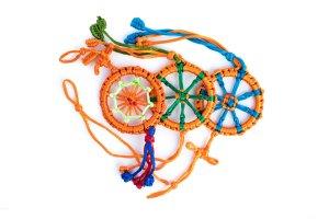 Large Dharma Wheel Orange variations