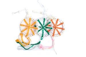 Large Dharma Wheel White/Beige variations
