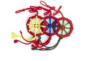 Large Dharma Wheel Red variations