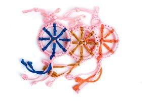 Large Dharma Wheel Pink variations