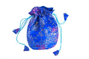 Mala Bag Brocade Blue