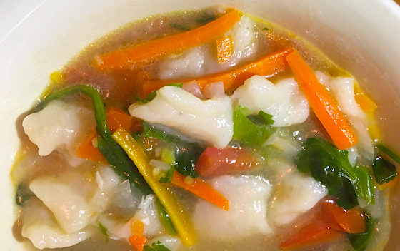 recipe for Tibetan noodle soup thenthuk