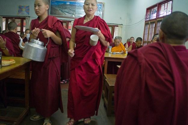 Tibetan Buddhist nuns, dining hall