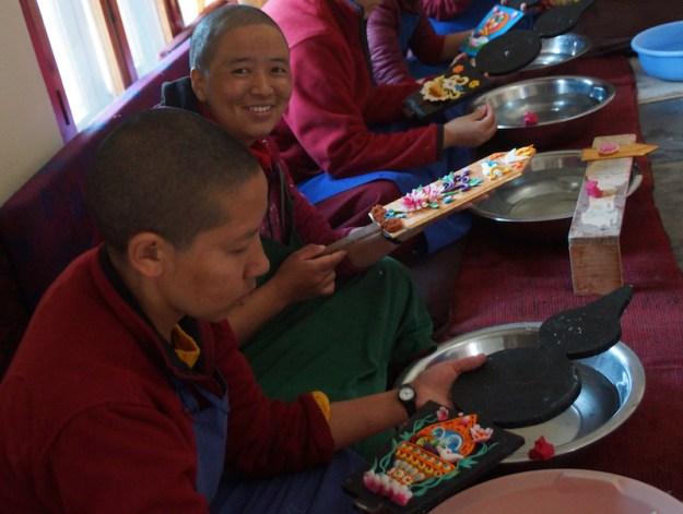 butter sculpture workshop, Tibetan butter sculptures, Tibetan Buddhism, Dolma Ling Nunnery, Tibetan nuns