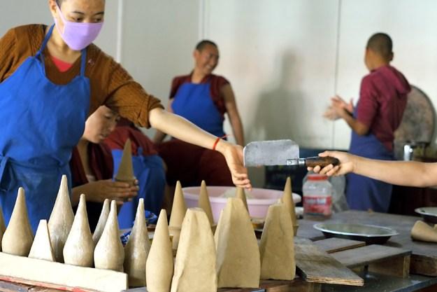 torma, Tibetan Buddhism, Dolma Ling, Tara puja, Tibetan Nuns Project
