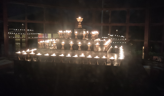 Tibetan Butter lamps and prayers Covid-19 April 2020