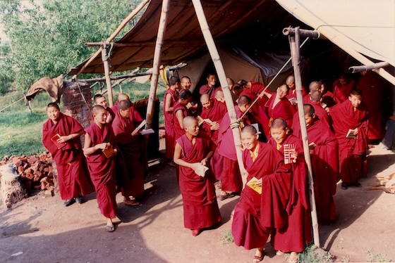 Tibetans in exile Buddhist nuns in India