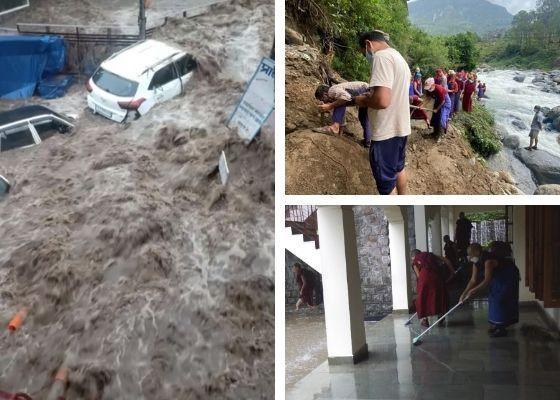 Torrential monsoon rains and flash floods hit Dharamsala area