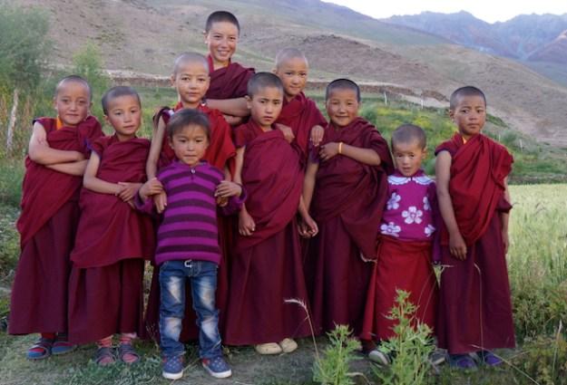 Young nuns at Dorjee Zong Nunnery, Zanskar nunnery,