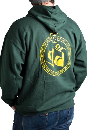 Zip-up Hoodie Forest Green Back