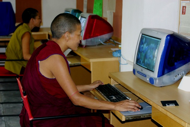 media equipment, empowering women, Tibetan Buddhist nuns, Tibetan nun, Buddhist nun, Delek Yangdron, Tibetan Nuns Project
