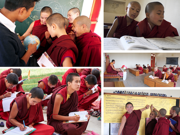 educate women and girls collage Tibetan Nuns Project
