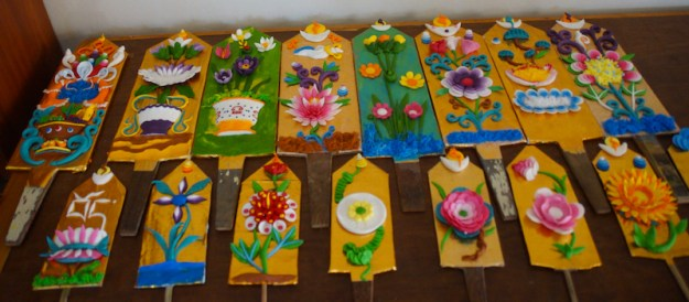 Tibetan butter sculptures, Losar, Tibetan New Year,