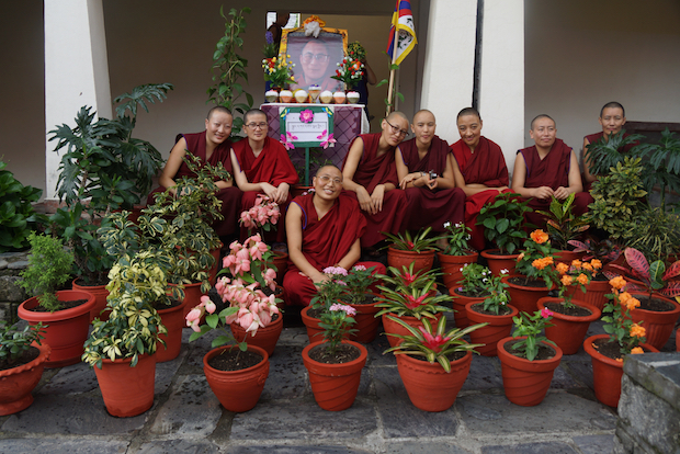 flower competition, Tibetan nunnery, Buddhist nuns, Dolma Ling Nunnery, flowers of Dolma Ling