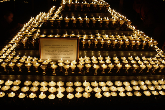 Tibetan Butter lamp puja