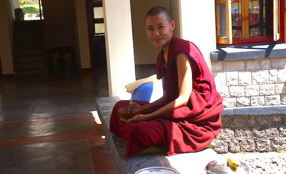 social distancing coronavirus Tibetan Buddhist nun
