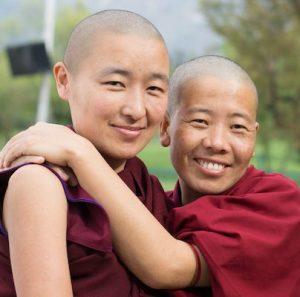 two Tibetan Buddhist nuns, Tibetan Nuns Project