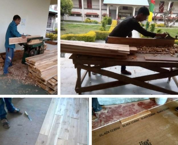 workers repair Shugsep temple floor