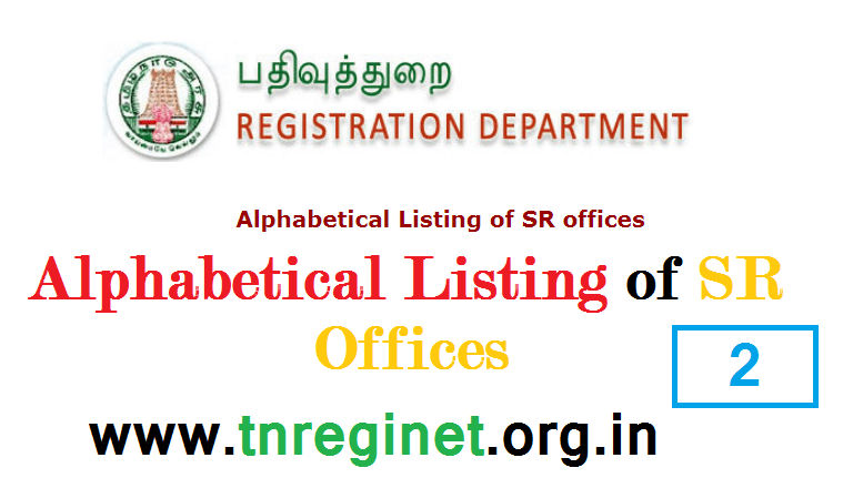 Alphabetical Listing of SR offices - tnreginet-net-in - 02
