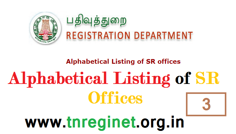 Alphabetical Listing of SR offices - tnreginet-net-in - 03