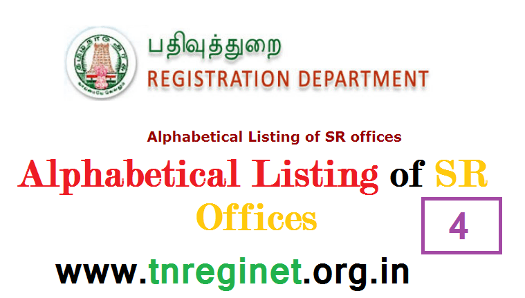 Alphabetical Listing of SR offices - tnreginet-net-in - 04