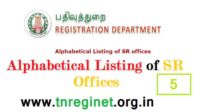 Alphabetical Listing of SR offices - tnreginet-net-in - 05