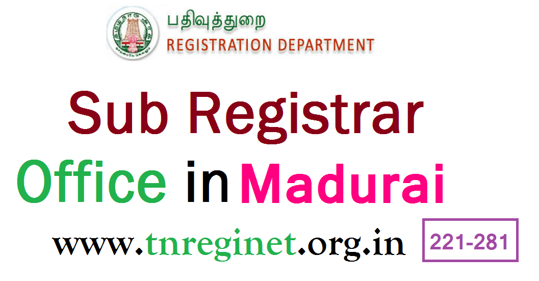 Sub Registrar Office in Madurai - tnreginet-org-in - 01