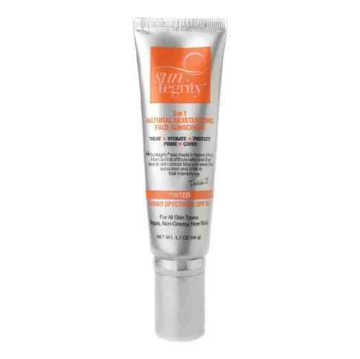 Suntegrity ''5 IN 1'' Natural Moisturizing Face Sunscreen - Tinted, Broad Spectrum SPF 30 - Light - 1.7OZ