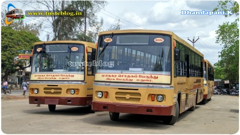 Front view of two new buses unregistered