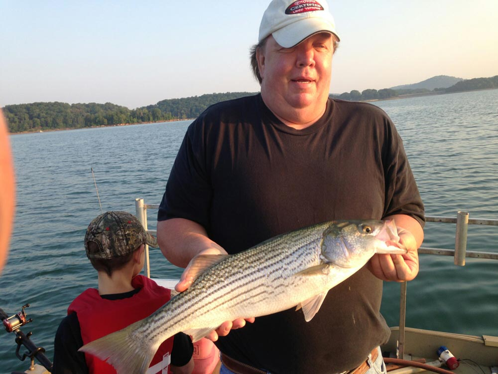 Boating Tour Guide Jay Striper Fish