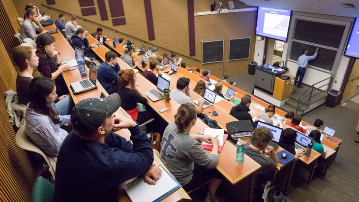 Image result for picture of a college classroom