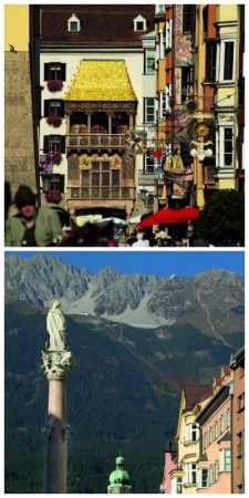 Bavaria Innsbruck Lake Constance Rail Tour, Goldenes Dachl and Hohensalzberg Austria to-europe.com