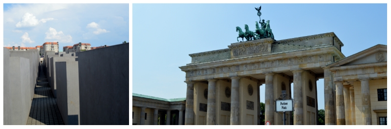 History Rail Tour Third Reich, Memorial to the Murdered Jews of Europe and Brandenburg Gate in Berlin