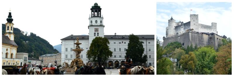 History Rail Tour Third Reich, Residenzplatz and Hohensalz Fortress in Salzburg