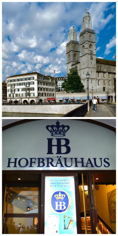 Germany & Switzerland Rail Circle Tour, Great Minster Zurich Switzerland and Hofbrauhaus Munich Germany to-europe.com