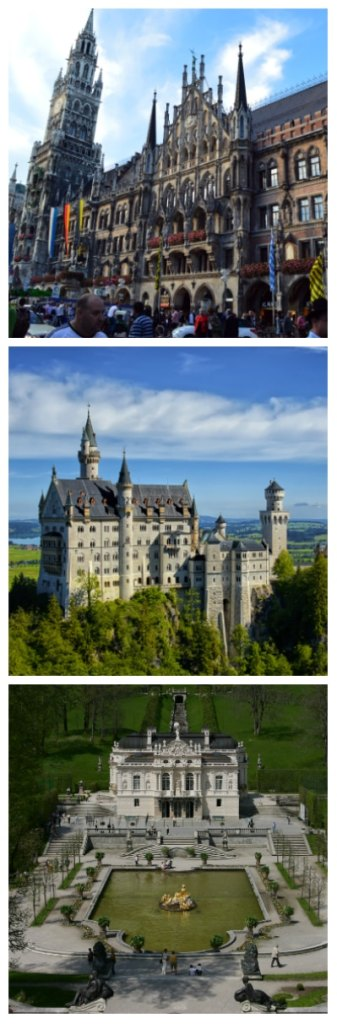 imperial cities rail circle tour, Munich Town Hall, Neuschwanstein Castle and Linderhof Palace Germany to-europe.com